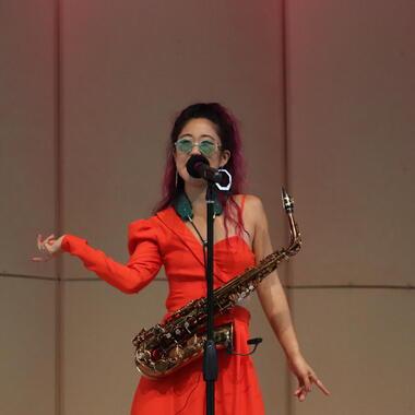 Kelly's performance Dazzles Usdan Students